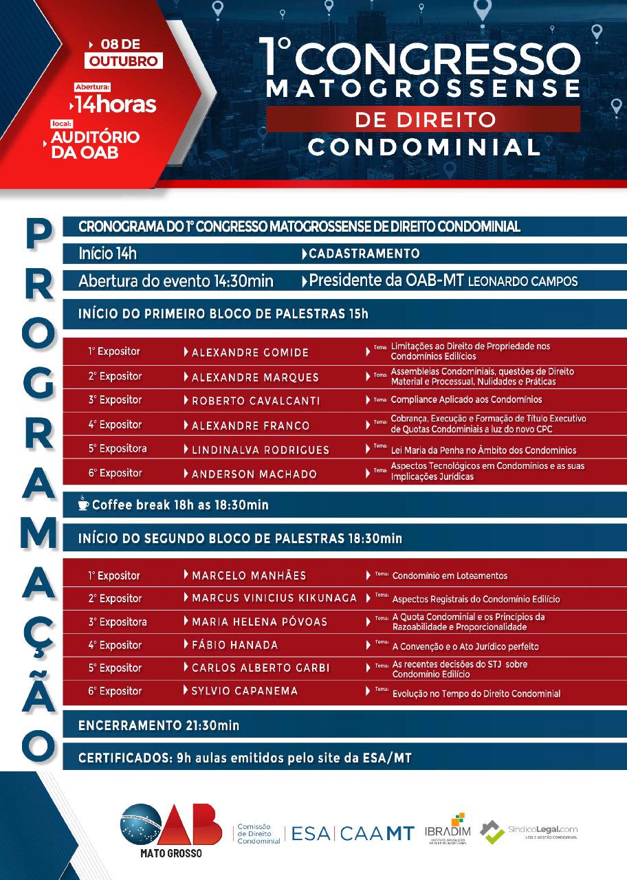 1º Congresso Matogrossensse de Direito Condominial