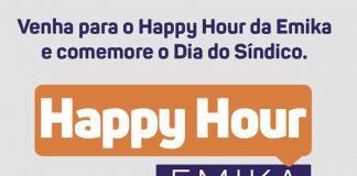 EMIKA oferece happy hour em comemoração ao Dia do Síndico