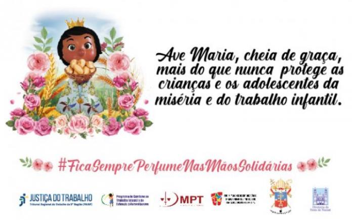 identidade visual da campanha de combate ao trabalho infantil