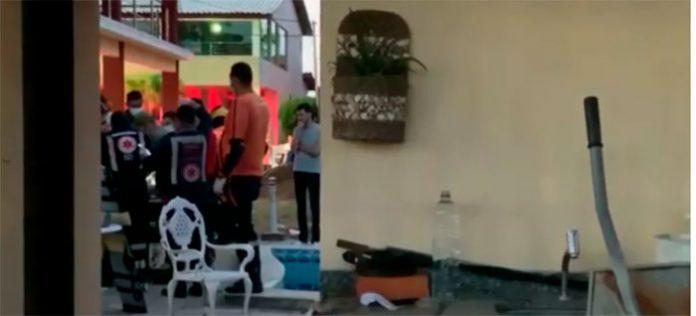 Criança de 2 anos se afoga em piscina e é socorrida para hospital, em João Pessoa — Foto: TV Cabo Branco/Reprodução