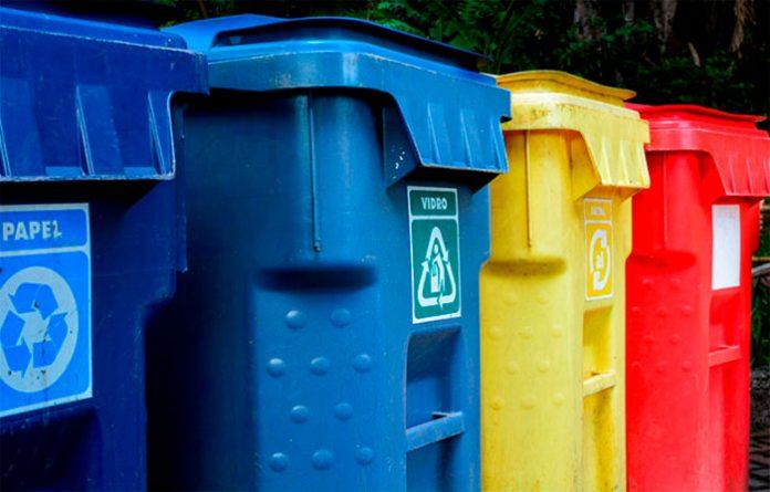 lixo para a coleta seletiva