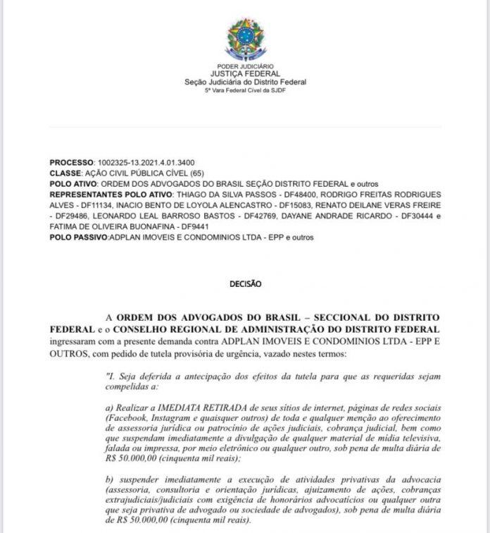 Justiça Federal defere liminar contra atuação ilegal de administradora de condomínio